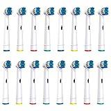 Softmate Aufsteckbürsten Ersatzbürsten für Oral B elektrische Zahnbürsten, 16 Stück (4x4)