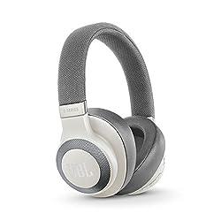 JBL E65BTNC Wireless Over-Ear Active Noise Cancelling Headphones (White)