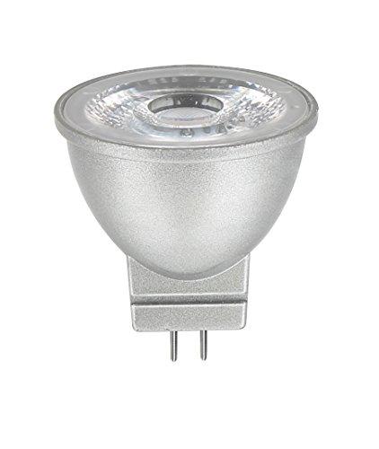 LEDs Change The World KLEINER LED SPOT GU4 MR11 (35mm Durchmesser) 12V 2,5W warmweiß 2700 Kelvin Alu-Gehäuse silber… (20w Mr11 Lampe)