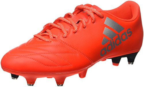 adidas X 16.3 Sg Leather, Entraînement de football homme Rouge (Solar Red/Silver Metallic/Hi-Reset Red)