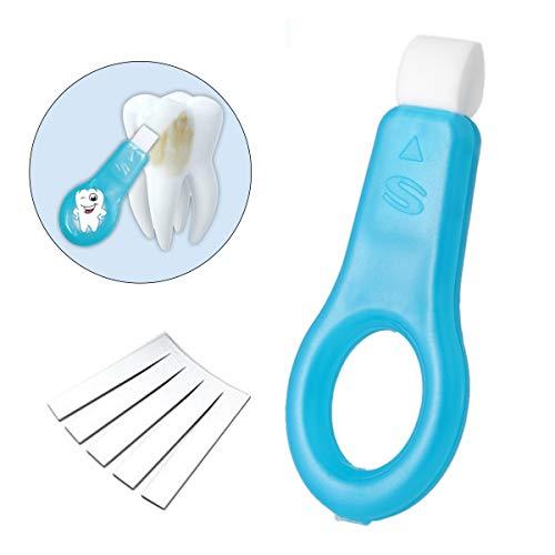Zahnaufhellung Kit,Nano Zahnaufhellung Streifen Kit,Aufheller natürliche Bürste Zahn für Brown Tooth Rauch, Kaffee, Tee, Fruchtsaft(1 Sticks + 5 Streifen) - Aufheller-kit