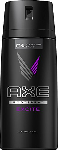 Axe Deospray Excite ohne Aluminium, 3er Pack (3 x 150 ml) (Axe Body Spray Deodorant)
