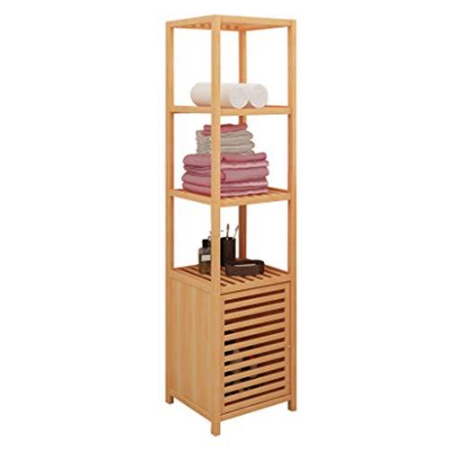 Midi- & Hochschränke Lagerregal Regal Badezimmer Regal Blumenständer Massivholz Regalboden Regal (Color : Beige, Size : 36 * 33 * 140cm)