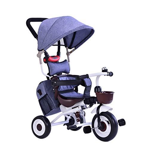 PIAOLING Ultraleichtes faltendes Kind-Baby-Dreirad-tragbare Trolley aus Edelstahl (Color : Purple) - Baby-pedal-traktor
