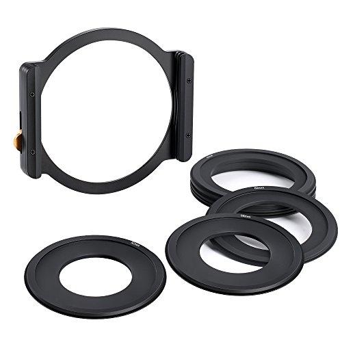 K&F Concept Rechteck-Filterhaltersystem Square Filterhalter ND1000 Metal Aluminum Adapter für Filter 100x100mm (inkl.7er Lieferumfang Objektiv Filter Adapterringe 52mm 58mm 62mm 67mm 72mm 77mm 83mm)