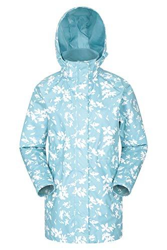 Mountain warehouse omega, giacca lunga impermeabile, da donna - leggera, traspirante, regolabile, con cuciture nastrate - adatta per estate, escursioni e viaggi mint 54