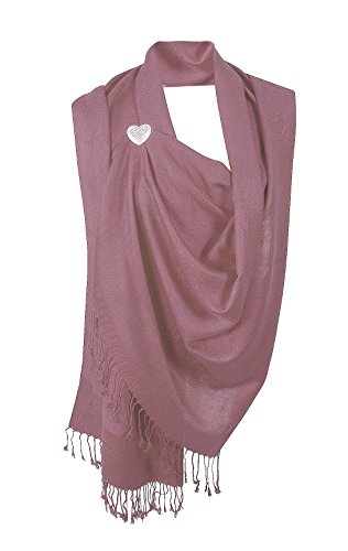 Moschen-Bayern Pashmina Stola Damen Schultertuch Schal Hochzeit Abendkleid Dirndl festlich elegant Rosa – Altrosa