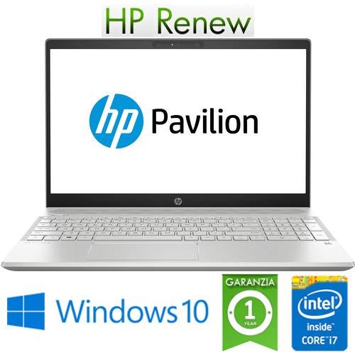 Notebook HP Pavilion 15-cs0036nl i7-8550U 8Gb 512Gb SSD 15.6in NVIDIA GeForce MX 150 2GB Windows 10 Home (Ricondizionato)