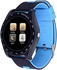 RCE - Z1 Bluetooth Smartwatch Passometer Camera Health Round Wearable Devices for Android iOS (Blue)