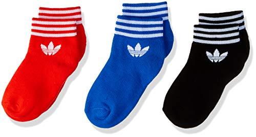 Adidas Trefoil Set de 3 Socquettes Mixte Adulte, Noir/Rouge/Bleu, FR : M (Taille Fabricant : 35-38)