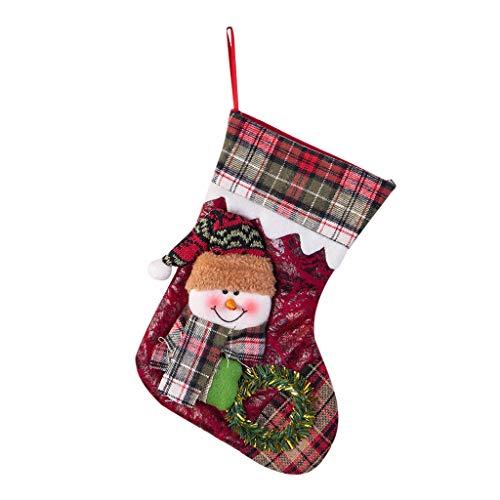 Detrade Weihnachten Neujahr Strümpfe Mini Socken Santa Candy Geschenktüte Christbaumschmuck für Zuhause, Restaurants, Hotels, Clubs, Bars (A) -