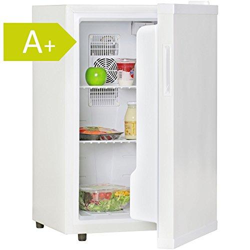 Amstyle Minikühlschrank 65 Liter Minibar Weiß freistehender Mini Kühlschrank Klein 5°-15°C Energieklasse A+ Tischkühlschrank ohne Gefrierfach für Getränke Zimmerkühlschrank 230V 65L Geräuscharm (Camping Kühlschrank Mini)