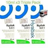 3 x NEW HYPOTONIC Hyabak 10ml Preservative Free