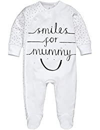 next Bebés Niños Niñas Unisex Pijama Pelele Eslogan Smiles For Mummy De Algodón (0-18 Meses)