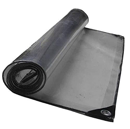 SZ JIAOJIAO Regendichtes Tuch 0,5 mm Dickes PVC-hochtransparentes, weiches Kristall-Planen im Außenbereich,3×5M