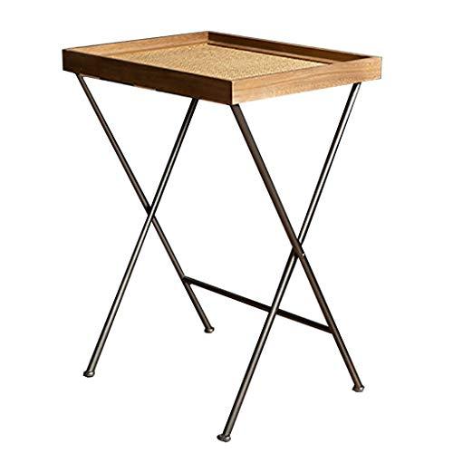 SACKDERTY Beistelltische Beistelltische Nachttische Rattan-Freizeit-Tisch/Regal Mit Faltbarem Mehrzweckmontageprotokoll FüR Wohnzimmer-Schlafzimmer-Wohnkultur -