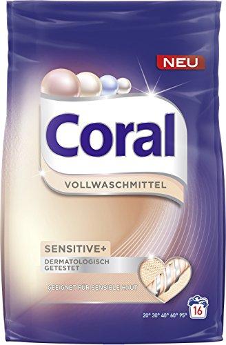 Coral Vollwaschmittel Sensitiv+ Pulver, 16 WL 1er Pack (1 x 1.12 l)