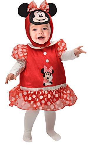 Ciao Baby Minnie Badeanzug für Mädchen, 6-12 Monate, Unisex, Rot, Weiß, 11255.6-12