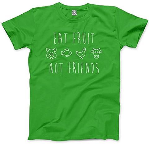 Eat Fruit Not Friends - Eat Fruit Not Friends Kids T-Shirt - vegan clothing animals are friends not food vegetarian gifts vegan gifts peta - Age 3/4 - 26''