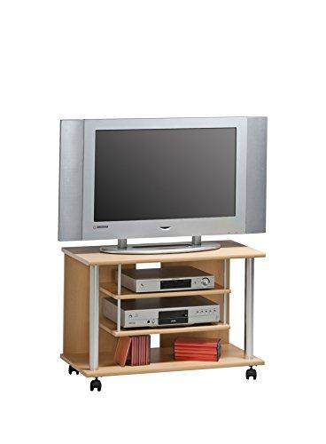 TV-Rack MAJA TV Board in Buche TV Regal 80x54,5x40cm mit 4 stabilen Doppelrollen