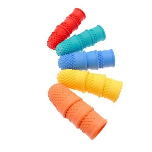 15Stück bunt sortiert Größe Gummi Finger Cones Fingerhüte
