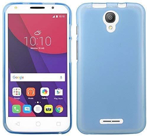 ENERGMiX Silikon Hülle kompatibel mit Alcatel Pixi 4 5.0 Zoll (5010D) Tasche Case Zubehör Gummi Bumper Schale Schutzhülle Zubehör in Blau