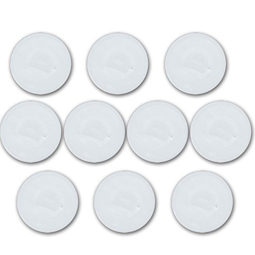 10 On Metal NFC Tags | NTAG216 888 byte | 29mm rund | weiss