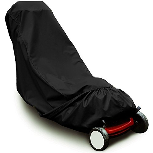 ddanke Rasenmäher Wasserdicht UV-Schutz Cover für Push Rasenmäher (schwarz)
