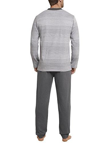 Schiesser Herren Zweiteiliger Schlafanzug Anzug Lang Grau (Grau 200)