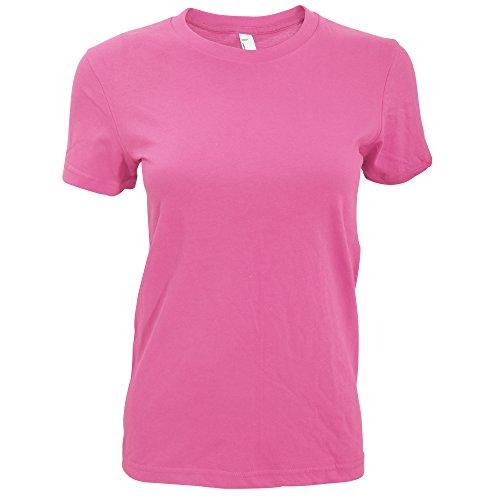 American Apparel Damen T-Shirt, Rundhalsausschnitt, Kurzarm Wasserblau