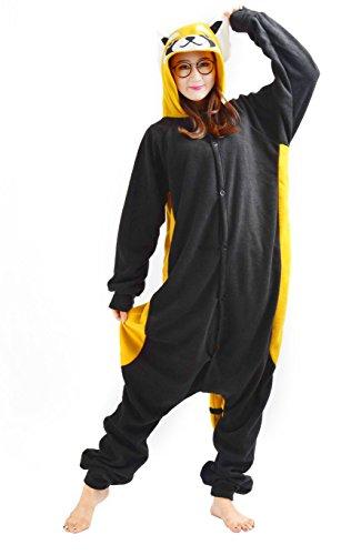 (SAMGU Tier Onesie Pyjama Cosplay Kostüme Schlafanzug Erwachsene Unisex Animal Tieroutfit tierkostüme Jumpsuit Waschbär(Größe S))