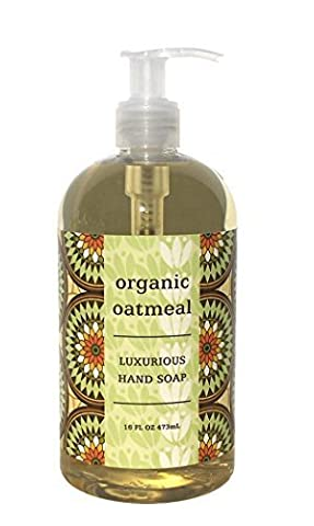 Greenwich Bay Organic Oatmeal Hand Soap - Enriched with Shea Butter, Cocoa Butter, Organic Oatmeal Extract - Natural-No PARABENS- American Made-16 Oz. by Greenwich Bay Trading Company