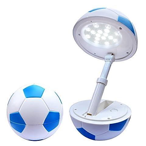 Tischlampe LED kinder Fußball Schreibtischlampe baby Tischleuchte / Nachttischleuchte Leselampe.nachttischlampe USB-Ladeanschluss,dimmbare Leselampe LED Tischleuchte Augenschutz 。modern höhenverstellbar Faltbare schlafzimmer