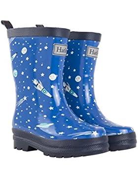 Hatley Rain Boot, Botas de Agua para Chico, Azul (Athletic Astronauts 400), 25 EU