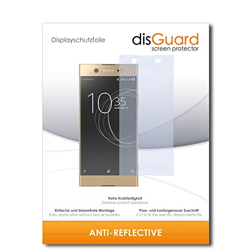 disGuard® Bildschirmschutzfolie [Anti-Reflex] kompatibel mit Sony Xperia XA1 Ultra Dual [2 Stück] Entspiegelnd, Matt, Antireflektierend, Extrem Kratzfest, Anti-Fingerabdruck - Schutzfolie