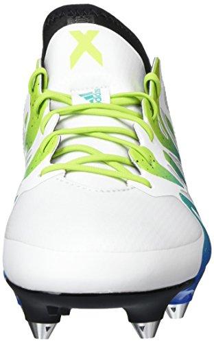 adidas X 15.1 Sg, Chaussures de Football Compétition Homme, Noir/Rose, 42,5 EU Blanc / Vert / Noir (Ftwbla / Seliso / Negbas)