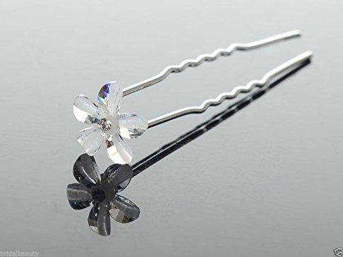 Accessoires cheveux coiffure mariage 1 lot de 5 épingles à chignon petite fleur effet cristal