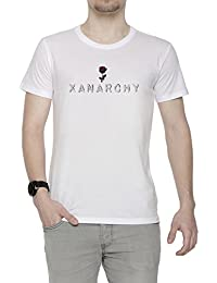 Erido Xanarchy Hombre Camiseta Cuello Redondo Blanco Manga Corta Todos Los Tamaños Mens White All Sizes