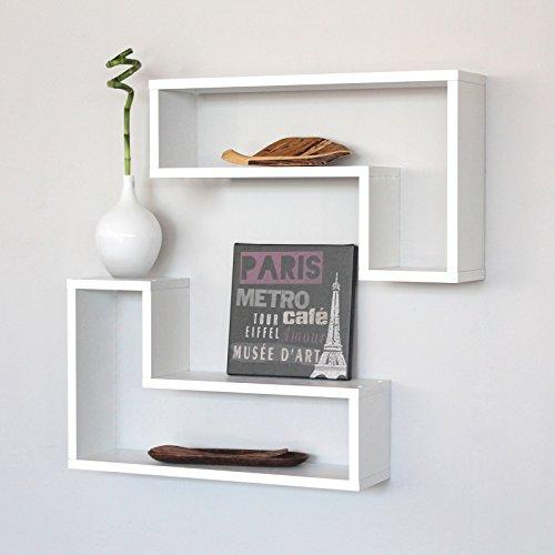 Set 6 mensole design salotto mensola a parete libreria - Mensole cucina legno ...