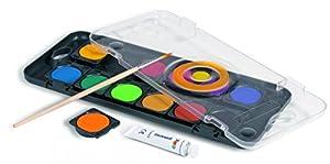 PRIMO 138A12NDM - Caja de Pinturas para niños (12 Colores, Incluye Pincel con Cuencos extraíbles)