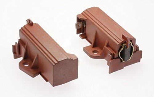ORIGINAL Candy Hoover 49028931 Kohlen Motorkohlen Kohlebürsten Bürsten mit Halter Sole Acc Motoren 2 Stück Waschmaschine (Motor Bürsten-ersatz)
