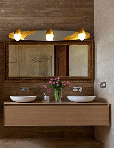 LZY Mode Kreativität Led Lampen Spiegel Bad-Wasserdichte Kugel Anti-Staub Einfache Spiegel Badezimmer Licht Vor dem Spiegel Nacht Spiegel Warmes Raumlicht Vor - Spiegel der Überfahrt - 111 Nacht Staub
