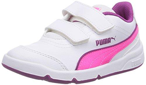 Puma Stepfleex Fs Sl V Tênis Unisex-kinder Weiss (05 Branco-fluo-rosa Vívida Viola)