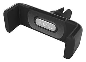 Kenu Airframe+ Lüftungs Halterung für Smartphones/Phablets (min. 56mm / max. 84mm Breite) - schwarz/grau [360° Drehbar | Gummierte Haltebacken | Patentierte Technologie | Standfunktion] - AF2-KK-NA