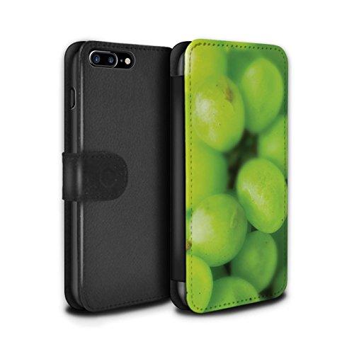 Stuff4 Coque/Etui/Housse Cuir PU Case/Cover pour Apple iPhone 7 Plus / Ananas Design / Fruits Collection Raisin