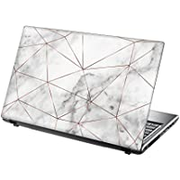 TaylorHe 15.6 inch 15 inch Laptop Skin Vinyl Decal with Colorful Patterns and Leather Effect Laminate MADE IN England Marble Texture Metal