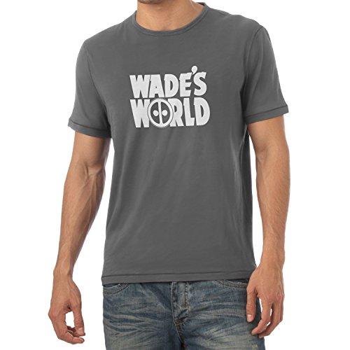 Wayne's World Kostüm Kinder (TEXLAB - Wade´s World - Herren T-Shirt, Größe S,)