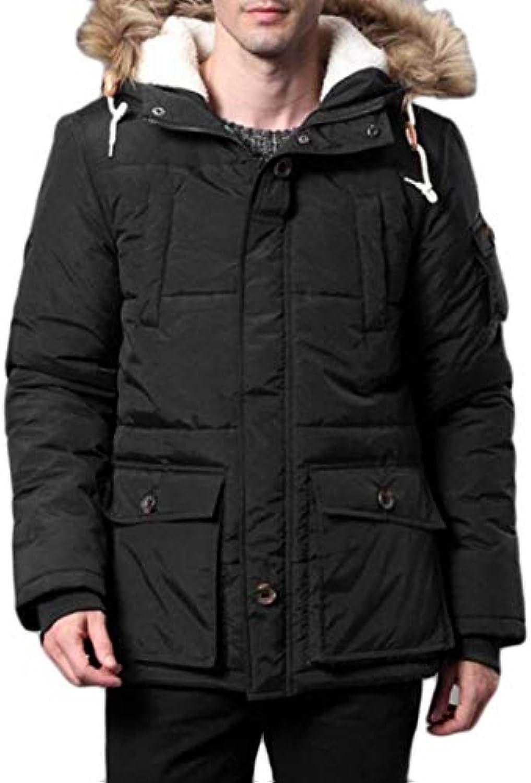 Kangqi da Abbigliamento da Uomo Giacca Invernale da Kangqi Uomo con  Cappuccio in Pelliccia con Cappuccio (Coloreee nero... 42f2a3 421ab1f53eab