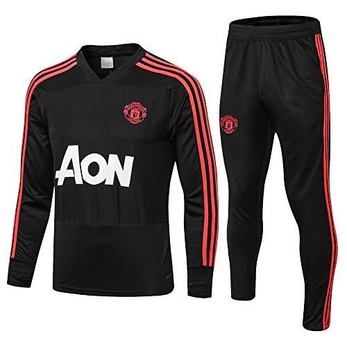ZuanShiDaHeng Club Langarm Fußball Uniform Geschenk Männer schwarzen Anzug @ Photo Color_L -