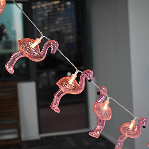 LED Flamingo Lichterketten Flamingo Geformte Stimmung Licht 1.8M/5.9FT 10 LED Batterie Operation Flamingo Tier Lichterkette DIY Dekoration